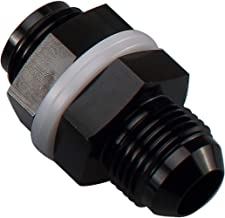 8AN AN8 Straight Black Aluminum Fuel Cell Bulkhead Adapter Fitting -8AN Locking Nut With Oil-resistant Washer