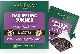 VAHDAM, Darjeeling Black Tea from Himalayas (30 Tea Bags) | Medium Caffeine, High Energy Tea | 100% Certified Pure Unblended Darjeeling Tea Bags from India | Brew Hot, Iced or Kombucha Tea