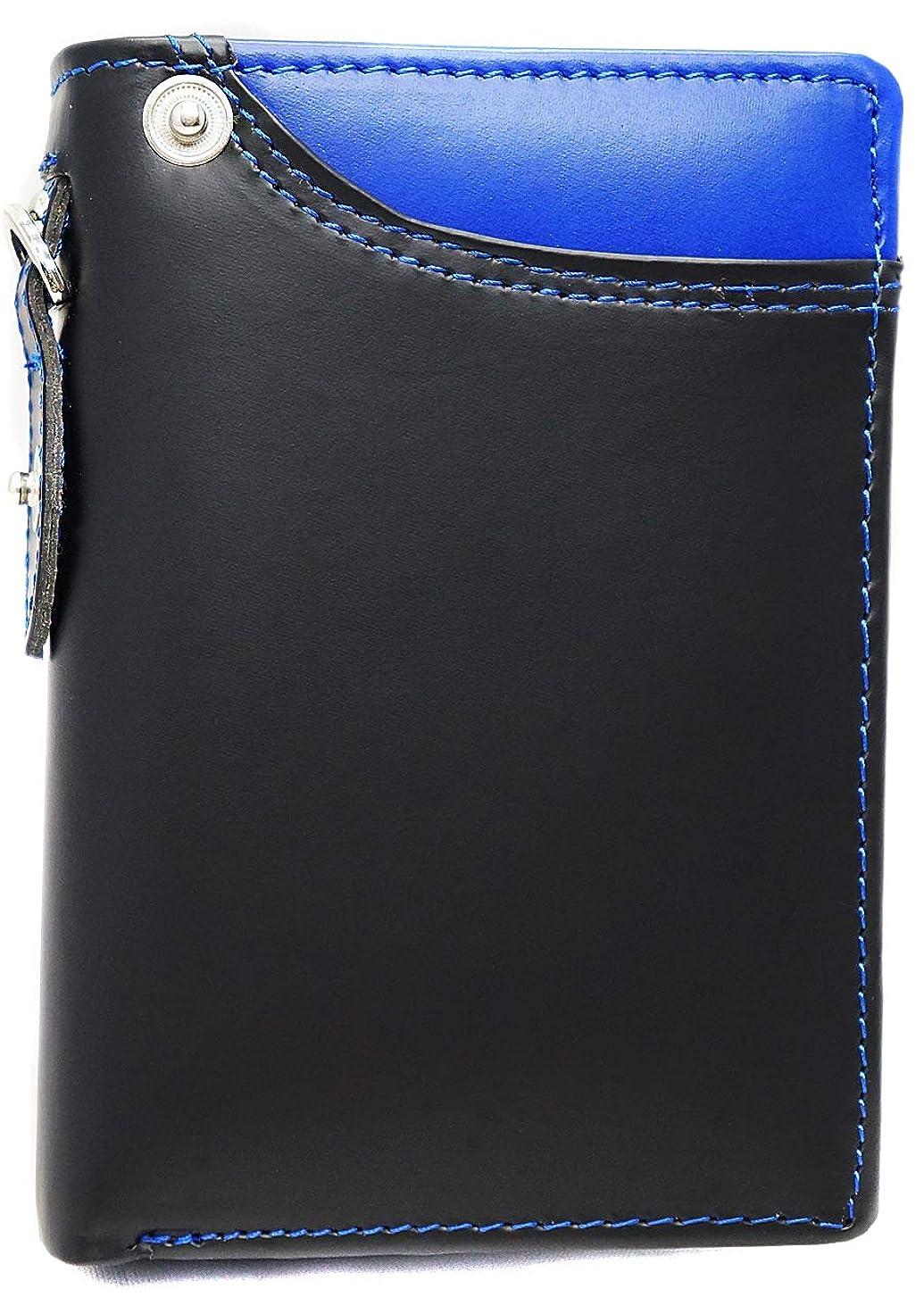 計画店員兵器庫[High-end] 【極上ドイツ製ボンデッドレザー】高級 二つ折り 短財布 ミニ財布 YKK 大容量 ME0299_e