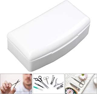 Decdeal Nail Art Tool Plastic S-terilizer Box Tray Cleaning S-terilization Storage Box Case Cleaner Disin-fection Containe...