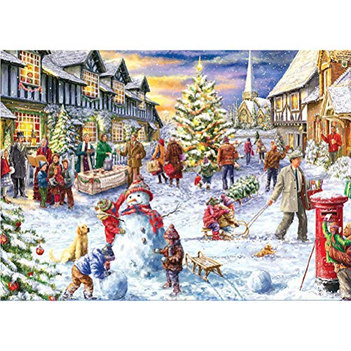 CaCaCook Jigsaw Puzzle 1000 pezzi per adulto, Babbo Natale e renna Puzzle giocattolo di Natale Puzzle, gioco di puzzle per regali di giocattoli di Natale 70 * 50 cm