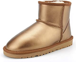 79acaf1f1 Fay Waters Women's Winter Snow Boots Nice Genuine Sheepskin Lined Warm Shoes  Outdoor Ankle Booties