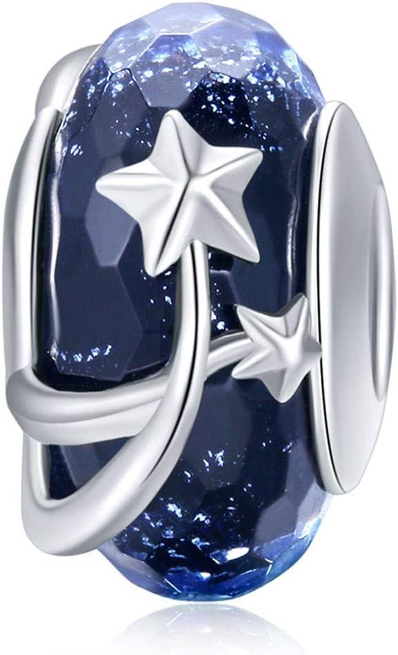 Murano Glass Bead Bracelets for OFFicial Max 83% OFF shop Women 925 Lampwork Silver Ocean