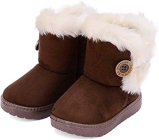 Baby Kids Boys Girls Snow Boots Cozy Fur Non Slip Toddler First Walker Outdoor Winter Shoes (Toddler/Little Kid)