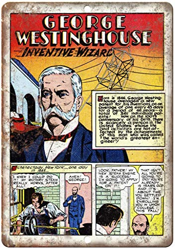 """not George Westinghouse Poster in Metallo con Scritta in Inglese /""""Golden Age Comic/"""" Lingua Italiana Non Garantita"""