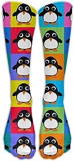 N / A, Penguin Crew Sock Crazy Socks Tube Calcetines altos Novedad Divertida Luz delgada para adolescentes Niños Niñas 50 cm / 19.7 pulgadas