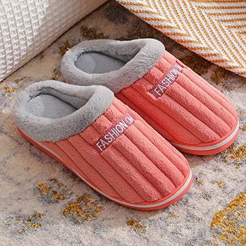 direction Calzado Adulto Unisex,Zapatos Antideslizantes de algodón Interior de la casa de Invierno par Torres de algodón Uso Antideslizante más Velvet-D_38-39#,Cómodo