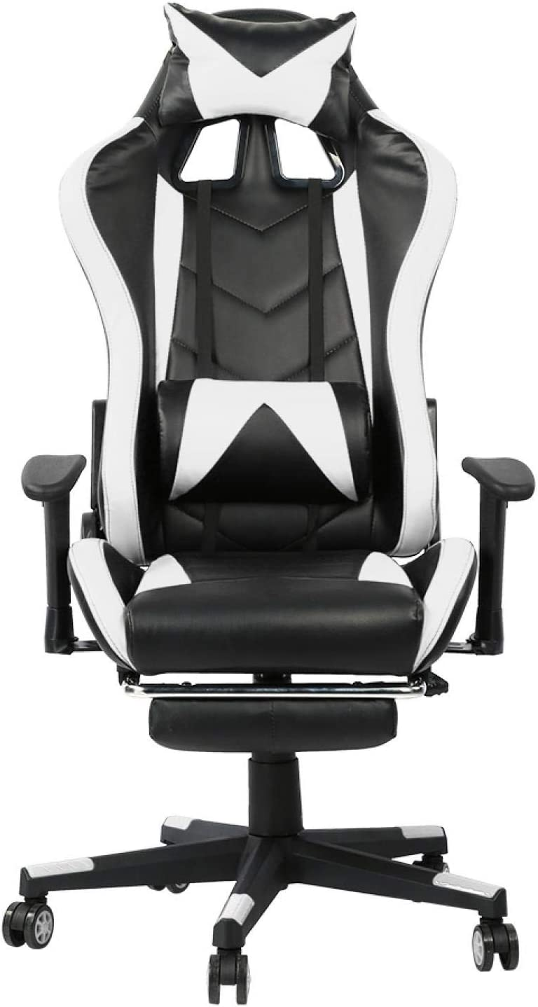YIUS Gaming Chair with Footrest Leather Office PU Dealing full price reduction Sale price High-Back Chai