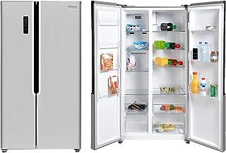 Super General 600 Liters Gross Side-By-Side Refrigerator-Freezer, Digital Control, Silver, SGR-710-SBS, 90.5 x 59.5 x 117 ...