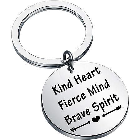 Aluminum Key Ring Positive Vibes Keychain Motivation Keyring