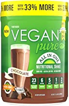 Vegan Pure All In One Nutritional Shake, Vegan Chocolate Flavor Plant-Based Protein Powdered Drink, 1.34 Pounds (12 Servings), Dairy Free, Soy Free & Made with Gluten-Free Ingredients