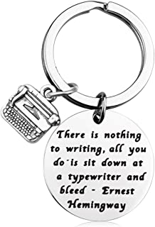 MAOFAED Writer Gifts Author Gifts There is Nothing to Writing Inspiration Gift Literary Gifts Journalist Gift