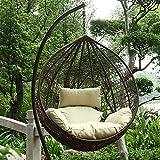 Huevos separados silla de mimbre, de pie con sillas de jardín del patio interior y exterior de mimbre mecedora silla mecedora,Brown