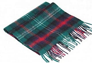 Womens Tartan Lambswool Scarves With Fringe
