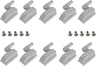 Karcy 10pcs Cabinet Cupboard Hinge LED Sensor Light for Kitchen Closet Wardrobe White Light