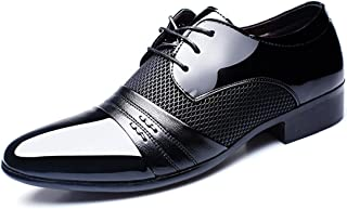 2018 Collection Spring Fall Fashion Men Dress Shoes Patent Leather Oxford Derby for Formal Leisure Wedding