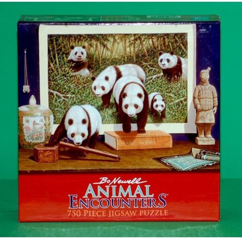 Bo Newell Animal Encounters - Panda Bears - 750 Piece Puzzle