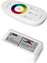 BZONE RF LED Remote Controller, 2.4GHz Wireless RF Touch LED RGB Dimmer Controller for 5050 3528 RGB LED Strip Light 12V/24V