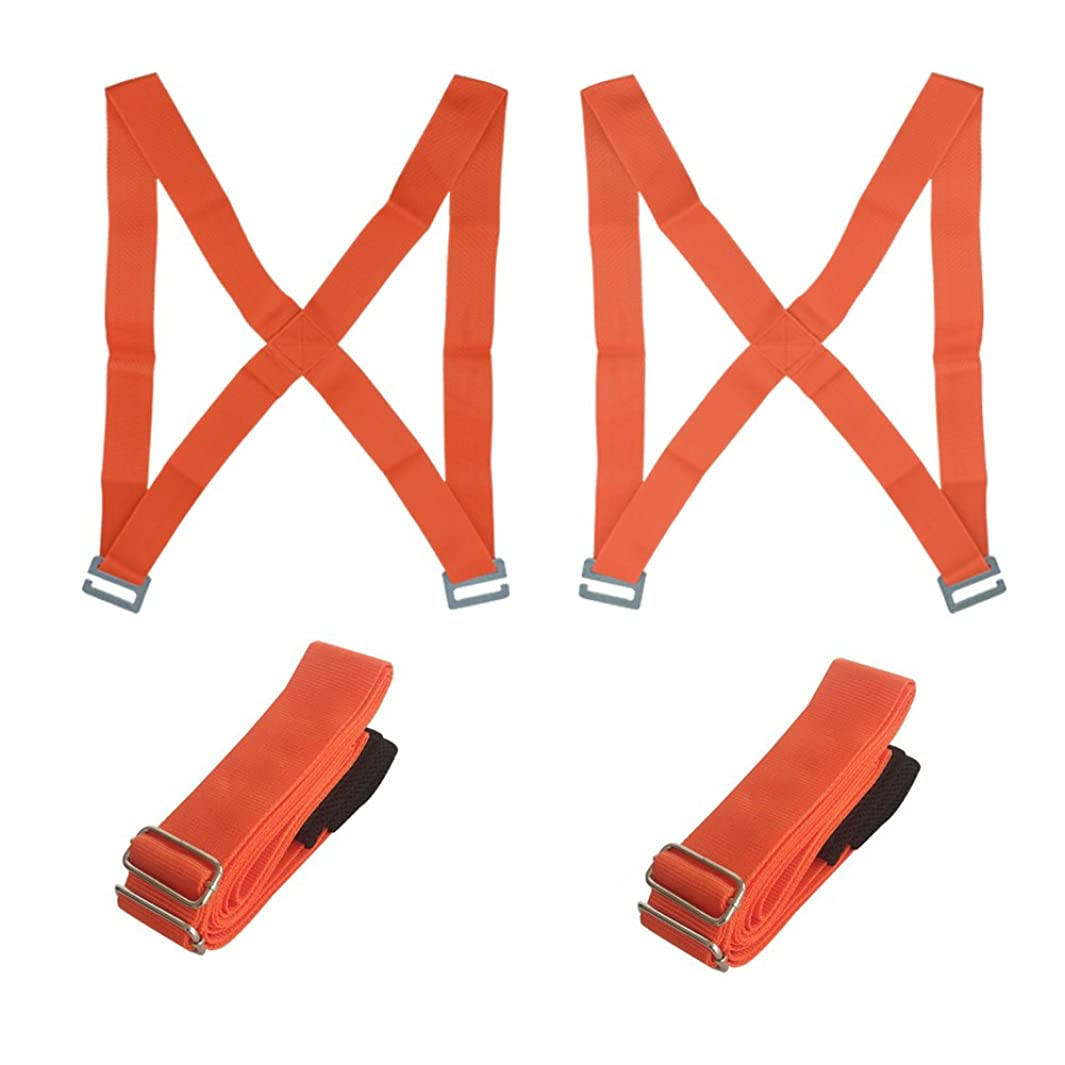 Gutian Furniture Moving Straps, 2 Person Shoulder Moving Belts, Carrying Straps for Easily Moving ,Lifting and Carrying(Orange)