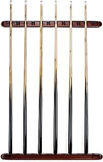 Felson Billiard Supplies 12 Cue Wall Mounted Billiard Stick Rack with Wooden Finish
