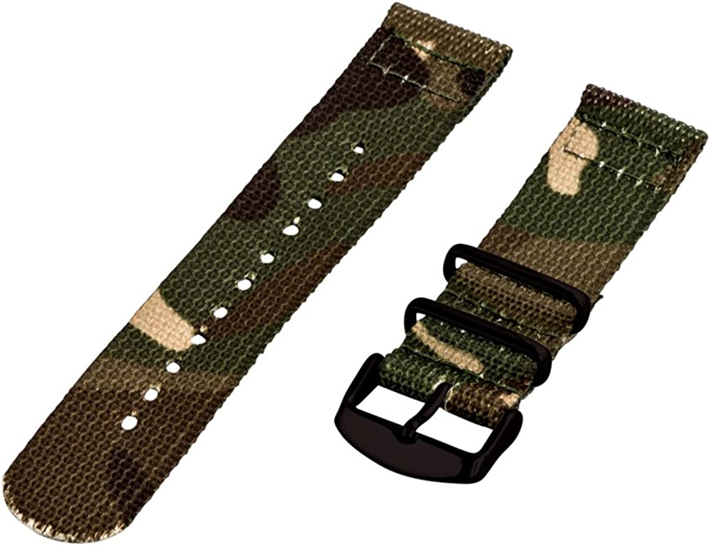 Clockwork Synergy - 26mm 2 Piece Army Cam wholesale NATO Nylon PVD Classic National uniform free shipping