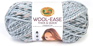 Lion Brand Yarn 640-548 Wool-Ease Thick & Quick Yarn, One Size, Artic Ice