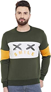 White Moon Men's Cotton Fleece Sweatshirt