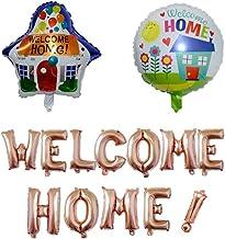 Mirrwin Bienvenido a casa Globo de Aluminio Bienvenido a Casa Banner Pancartas Bienvenida Pancartas Bienvenida Globo Oro Rosa Decoración para Fiesta Familiar o Fiesta de Bienvenida Traje