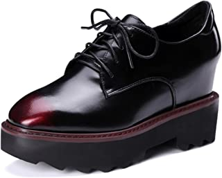 Nine Seven Women's Leather SquareToe Wedge Shoe