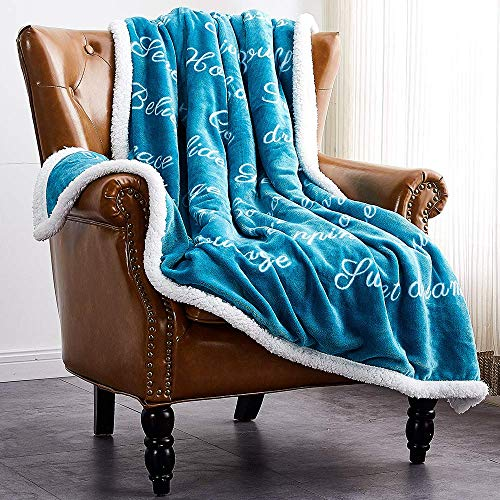 Rose Home Fashion Throw Blanket Gifts for Women Fleece Blanket Plush Blanket Fluffy Blanket Get Well Gifts(Throw, Teal)