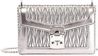 Luxury Fashion | Miu Miu Womens 5BD083N88F0135 Silver Shoulder Bag | Fall Winter 19