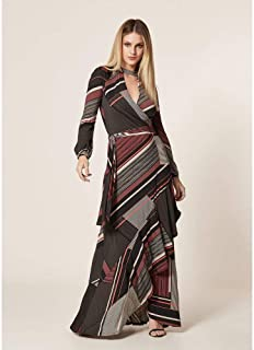 Vestido Jersey Estampa Ethnic Stripes