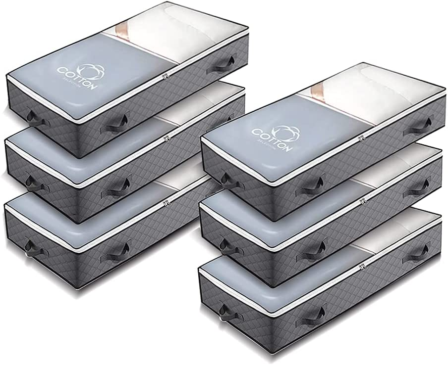 JNYONG 6-Pack 100L 2021 new Underbed Storage Large Bags Clothes Blankets Max 72% OFF