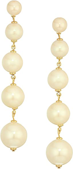 Kate Spade New York - Girls in Pearls Linear Statement Earrings