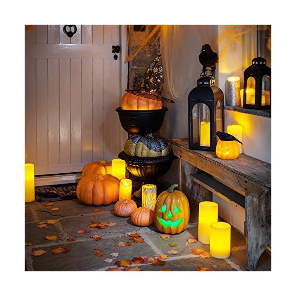 Lights4fun Zucca di Halloween a Pile con LED Cambia Colore 2 spesavip