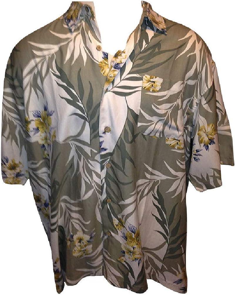 Big and Tall Canadian Made Silk Blended Hawaiian Shirts
