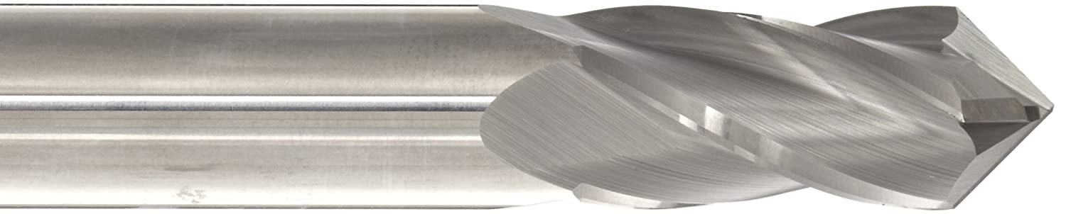 4 Flutes 30 Deg Point Angle Uncoated Melin Tool CCMG-DP Carbide Drill Mill 3 Overall Length Bright Finish 0.5 Shank Diameter 0.5 Cutting Diameter