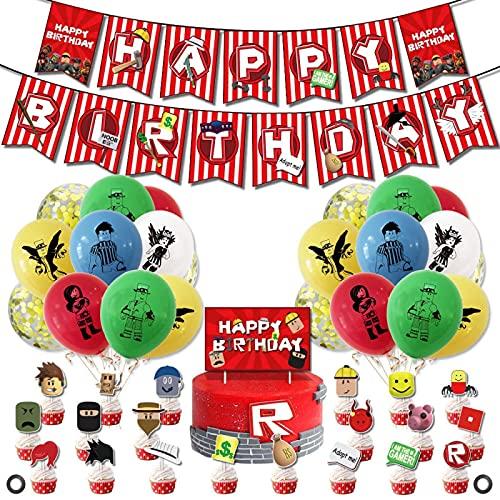 SHLMO Gioco Decorazioni Partito Gioco Compleanno Tirare Bandiera Cake Card Sandbox Balloon Set A