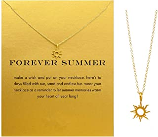 Friendship Love Infinity Dragonfly Star Horseshoe Clavicle Necklace with Blessing Card, Small Dainty Pendant Necklace for Women Gift Card