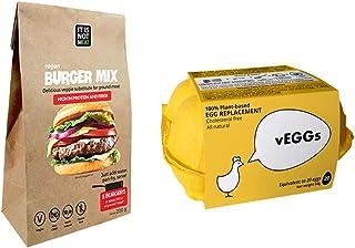 Multi-Packs > Sustitutos de Carne y Sustitutos de Huevo : vEGGs Sustituto de Huevo 100% Vegano basado en plantas | Mezcla de Hamburguesas Veganas Instantánea | Vegano | 100% Sin Gluten