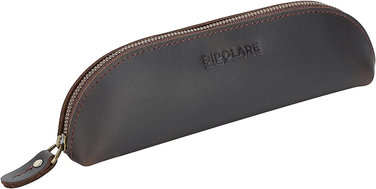 Polare Full Grain Leather Pencil Vintage Pouch Case Shipping included Bag Popular shop is the lowest price challenge w