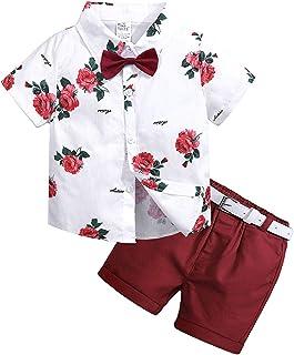2Pcs Baby Boy Clothing Set Shirt Pant Floral Suits Fashion Cute Clothing Set 24-36 months