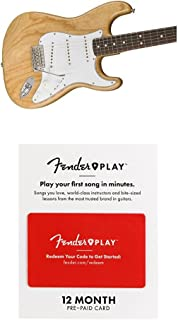 Fender Classic Series 70's Stratocaster Electric Guitar - Pau Ferror Fingerboard - Natural With 12 Months Guitar Lesson Gift Card