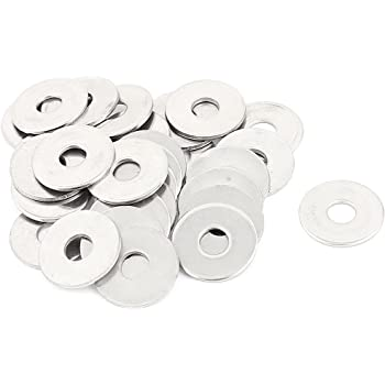 Aexit M4 x Washers 8mm x 0.8mm 304 Stainless Steel Internal Star Lock Washers Flat Washers 50 Pcs