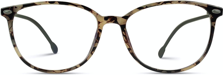 WearMe Pro Super beauty product restock quality Max 46% OFF top - Premium Elegant Blue Eye Fra Oval Light Glasses Cat