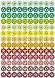 TimeTEX - Belobigung-Aufkleber Sternchen bunt - 4 Bögen mit insgesamt 520 Aufklebern - Timetex 62764