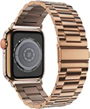 EPULY Compatible with Apple Watch Band 42mm 44mm 38mm 40mm with Case,Business Stainless Steel Metal Wristband for iWatch Series 5/4/3/2/1