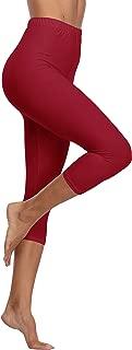 EAST BUND High Waisted Leggings, Basic Capri Leggings for Women Non See Through, Soft & Slim, Regular & Plus Size