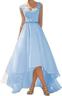 Abito da sposa a campana, in stile vintage/rustico, abito da cerimonia in pizzo, da donna