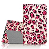 Fintie NVIDIA Shield Tablet K1, NVIDIA Shield Tablet Folio Case, Slim Fit Vegan Leather Cover for 2015 NVIDIA Shield Tablet K1 8.0 Inch Newest Version, Cheetah Pink